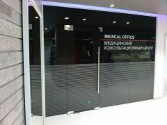 Glass, shower walls, doors and railings made of glass