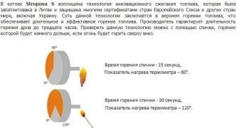 Solid fuel boiler long burning Stropuva S 7-40 kW