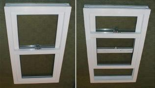Vertically-sliding Windows from plastic